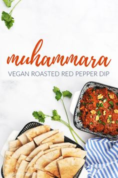 Muhammara is a summertime staple!  This easy roasted red pepper dip is perfect for wraps, sandwiches, dipping, and more! #vegan #glutenfreeoption #summer #dip