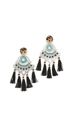 Mercedes Salazar Petite Artes Fiesta Clip On Earrings