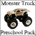 1+1+1=1...Monster Trucks Preschool Pack. Seriously this blog is such a blessing!