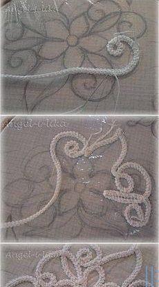 How to Crochet a Jasmine Stitch - Design Peak - Louisa Crochet Motif, Irish Crochet, Crochet Flowers, Crochet Lace, Fabric Flowers, Crochet Stitches, Crochet Trim, Tambour Embroidery, Hand Embroidery Patterns