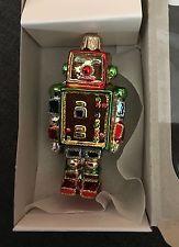 Unique Quirky Vitbis Robot Blown Glass Christmas Tree Decoration Ornament