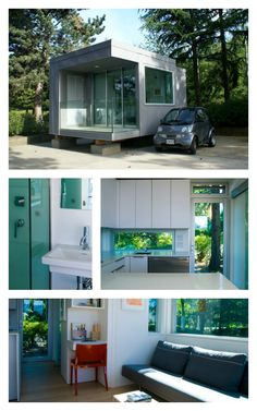 Tiny home and a tiny car. L41 home made of aluminum and glass