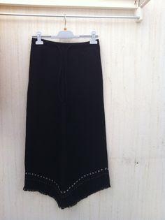 Lange vintage rok rok vintage lana-falda negra-falda india-maxi rok retro-falda invierno-lana vintage
