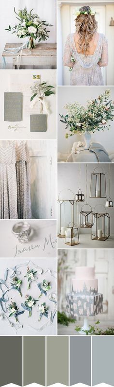 Gray, our fave neutral, is a perfect color complement for every season. Gray Wedding Inspiration and Ideas.