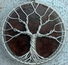 Ecofriendly Upcycled Backgammon Chip Tree of Life Pendant - Recycled Sterling Silver. $65.00, via Etsy.