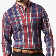 Dockers full sleeves shirt for men New with tags dockers shirt for men's Dockers Shirts Casual Button Down Shirts
