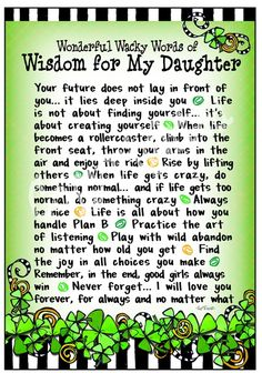 Words of Wisdom for my Daughter