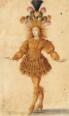 Costume de Louis XIV, le roi danseur(1653) en Apollon