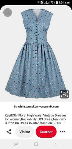 50s Dresses, Vintage Dresses, Summer Dresses, Button Up Dress, Floral, Women, Fashion, Vintage 1950s Dresses, Vintage Gowns