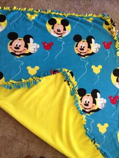 Mickey Mouse! No sew blanket!
