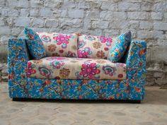Vintage Fabric Sofa   www.rustichomesanmarcos.com