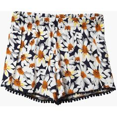 Daisy Sky Shorts ($23) ❤ liked on Polyvore featuring shorts, bottoms, short, short shorts, print shorts, hot short shorts, polka dot shorts and mini short shorts
