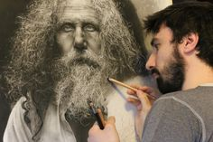 Visit me on FB: https://www.facebook.com/EmanueleDascanioItalianPainterArtist Hyperrealistic drawing made with charcoal and graphite in over 300 hours of wor...