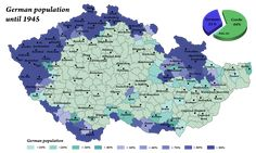 """willkommen-in-germany: """"mapsontheweb: """" Ethnic Germans in the Czech Republic before 1945. """" 1 reason why we have good beer in common. :) """""""