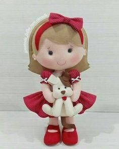Moldes para hacer muñecas de fieltro.