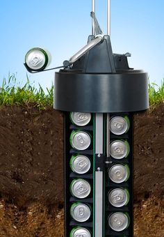 eCool Underground Beer Cooler. Install it with a garden drill or a shovel and keep up to 24-cans cool underground using no electricity. When you want one, just pop the top and turn the crank. $349