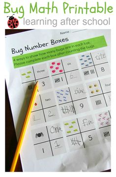 math and handwriting practice printable - Lots of after school learning activities