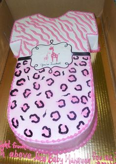 Wild Safari Pink Baby Shower. See More. Calumet Bakery Baby Onsie With  Cheetah Print And Zebra Print.