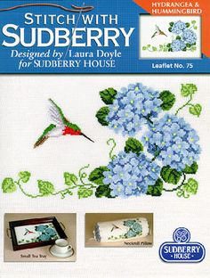 Hydrangea and Hummingbird - Cross Stitch Pattern  by Sudberry House