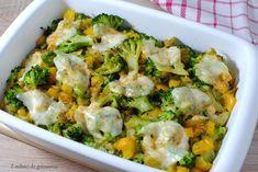 Zapiekanka z kaszy jaglanej z brokułami, porem i papryką Sprouts, Broccoli, Potato Salad, Cauliflower, Food Porn, Good Food, Healthy Eating, Potatoes, Menu