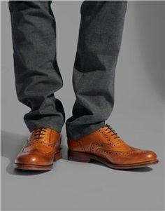 Grenson Stanley Brogue Shoes - soon, very soon. Fashion Killa, Look Fashion, Mens Fashion, Fashion Outfits, Men's Shoes, Shoe Boots, Dress Shoes, Fashion For Men Over 60, Tan Brogues