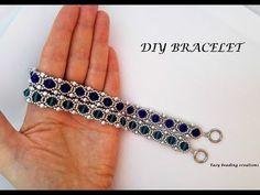 A must have bracelet. DIY bracelet for an elegant outfit - Armband Ideen Diy Bracelets Easy, Woven Bracelets, Handmade Bracelets, Handmade Jewelry, Colorful Bracelets, Embroidery Bracelets, Gold Bracelets, Diy Jewelry, Diamond Earrings