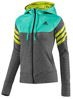 14 Hoodies and Outerwear pieces for your fit friends in cooler Climates: Adidas Beautiful Warrior Jacket Perfect for Sport Fashion, Fitness Fashion, Love Fashion, Fitness Gear, Cute Gym Outfits, Sport Outfits, Athletic Outfits, Athletic Wear, Moncler