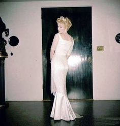 "Marilyn during costume tests for ""The Prince and The Showgirl"", 1956."