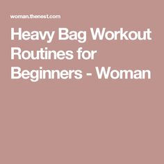 Heavy Bag Workout Routines for Beginners - Woman
