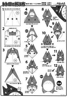 totoro, origami, paper arts, http://www.nekotabi.es/totoro-de-origami-おりがみ-の-トトロ/2828