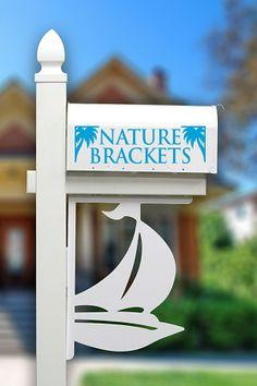 Sailboat Nautical Mailbox or Porch Decorative Corner Bracket | Nature Brackets