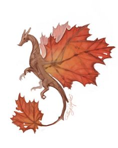 cathysdoodles:  Maple leaf dragon is after your maple syrup