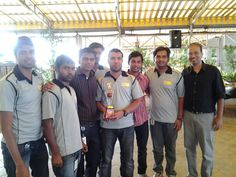@Great Software Laboratory cricket Team with the trophy.