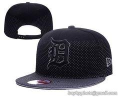 Detroit #Tigers MLB Flow Flect Snapback Hats Black