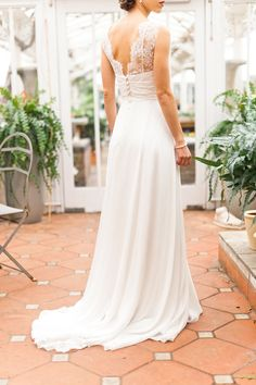 Boho wedding dress with lace | Photography: Anushé Low - anushe.com  Read More: http://www.stylemepretty.com/destination-weddings/2014/04/23/botanical-wedding-inspiration/