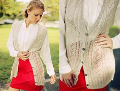 Vintage 1970s Beige Crochet Vest (although I'm pretty sure it's knitted...)