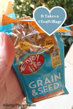 There is a saying that it takes a village to raise a family; this is how I feel about our food allergy community. I am grateful to have... #EnjoyLifeFoods #teal #eatfreely #productreview #tealvillage #top8free #swag #allergy #product #bar #label #snack #review