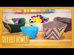 DIY Felt Bowls - HGTV Handmade (+playlist)
