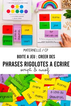 French Teaching Resources, Teaching French, Teaching English, Preschool Worksheets, Kindergarten Activities, Activities For Kids, Busy Board, Kids Party Games, Cycle 1