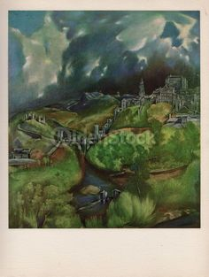 View of Toledo Painting by Artist El Greco Vintage Art Print