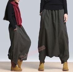 Questo pantalone è realizzato in cotone, morbido e ruvido, adatto, stile casual allentato, non solo mantiene gli elementi popolari, ma anche non perdere casuale. No. ACO008 Taglie come di...