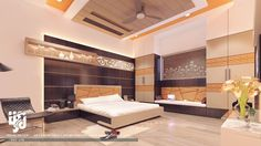 #MODERNBEDROOM #INTERIORDESIGN #3DRENDER VIEW BY www.hs3dindia.com @nirlepkaur_id