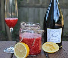 Definitely making this for out champagne tonight! Carolina Charm: Strawberry Champagne