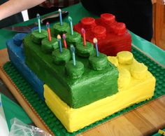A Lego cake for your little Lego lover.  Not as hard as you may think!