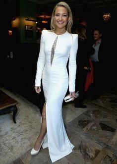 Kate Hudson White Dress   Kate Hudson Wears an Alexander McQueen Dress - Coco's Tea Party