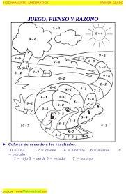 Resultado de imagen para sumas y restas primer grado con dibujos