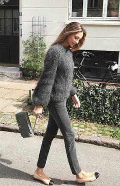Ganni street style | Mathilde Gøhler | The Julliard Mohair Open Back Pullover