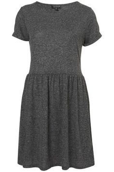 Speckle Roll Sleeve Mini Dress/ basic
