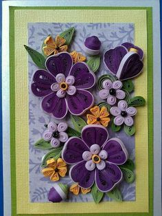 Quilled Pansey's
