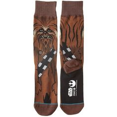 Stance Chewie (Brown) Men's Crew Cut Socks ($20) ❤ liked on Polyvore featuring men's fashion, men's clothing, men's socks, mens crew socks, mens brown socks and mens socks